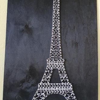 """Картина """"Париж"""" в стиле Стринг Арт"""