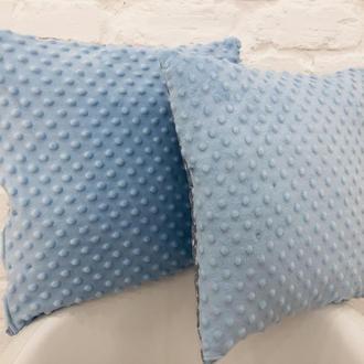 декоративные подушки-цвет синий-подушки из плюша-подушки антистресс-подарки на новоселье