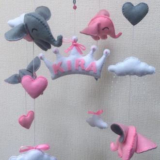 Мобиль из фетра для маленькой принцессы