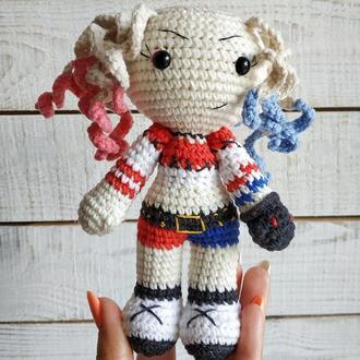 М'яка іграшка Харлі Квінн (в'язана лялька супергерой)