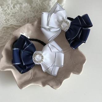 Бантики синьо-білі