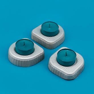 Подсвечники из бетона (набор)