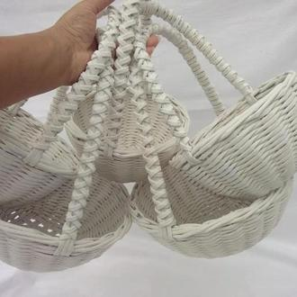 Плетеная корзина D22см Корзина на свадьбу Корзинка для лепестков