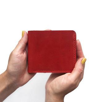 Мини-кошелек с монетницей из натуральной кожи