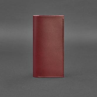 Кожаный женский тревел-кейс 3.1 бордовый Краст