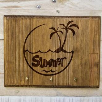 """Настенная ключница """"Summer"""" из дерева"""