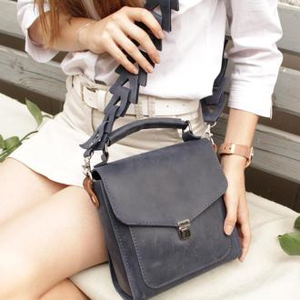 Женская кожаная сумочка через плечо. Кожаная сумка.