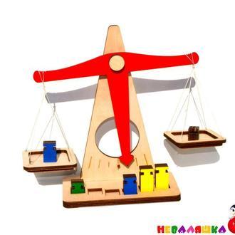 Купить Деревянные Весы - Конструктор игрушечные, детские игрушка Терези Дерев'яні Ваги