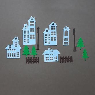 Паперова вирубка Місто, Фігурна вирубка