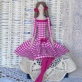 Кукла в стиле Тильда Сандра 48см ВНИМАНИЕ БОНУС !!!