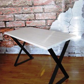 Стол обеденный письменный loft белый стол