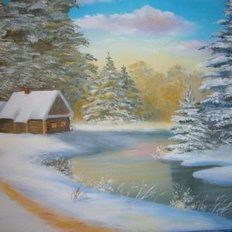 """Картина""""Зимний вечер"""""""