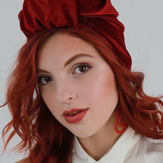 Бархатный тюрбан, повязка тюрбан, головной убор, шапка тюрбан, подарок женщине