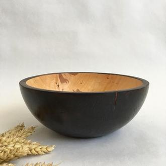 Фруктовниця з дерева, декоративна миска