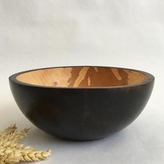 Фруктовница из дерева, декоративная миска