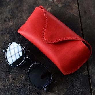 Чехол для очков из натуральной винтажной кожи