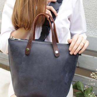 Женская кожаная сумочка через плечо.