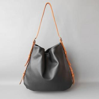 "Hobo bag ""Polly"" black (артикул: w047.2)"