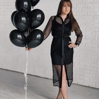 Платье рубашка 2 в 1