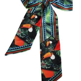 Твилли, шарфик-галстук, авторский дизайнерский шарф, шарф-лента My Scarf