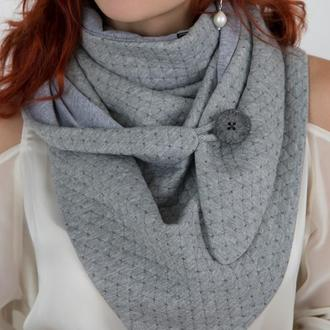 """Шарф-бактус """"Эдинбург"""", женский шарф, большой женский шарф, подарок женщине"""