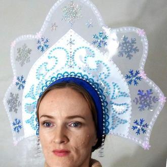 Кокошник Снегурочка корона
