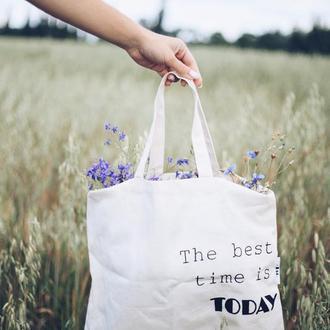 Льна сумка-шоппер