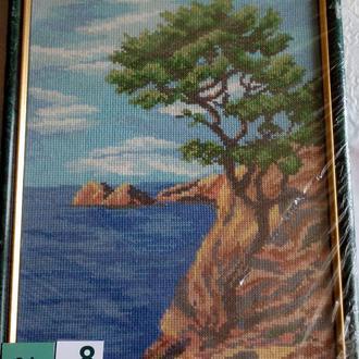 Вышивка крестом. Картина в рамке. 01-8 Байкальский пейзаж.