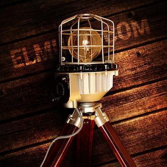 Дизайнерский светильник на треноге, ручной работы в стиле лофт (loft)