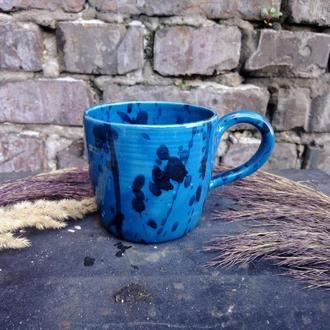"""Чашка керамічна """"Морська хвиля"""", 400мл"""