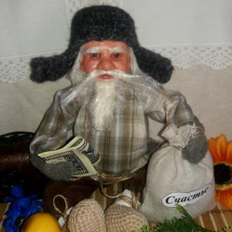 Дед Захар домовой - кукла сувенирная.