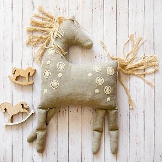 Лошадка мягкая игрушка подушка