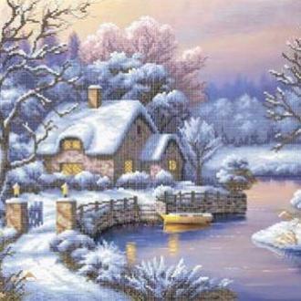 """Схема вишивки бісером """"Зима"""", Схема вышивки бисером """"Зима"""""""