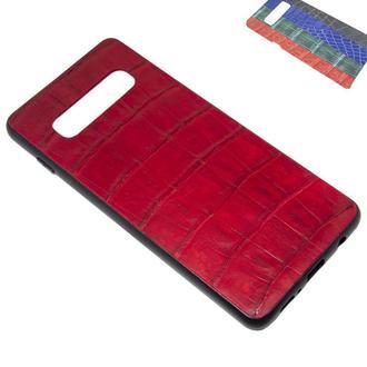 Чохол для Samsung S10 Plus Плюс з шкіри крокодила, пітона, ігуани, ската