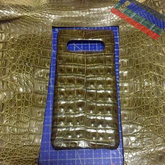 Чохол для Samsung S10 Plus плюс +. З шкіри крокодила