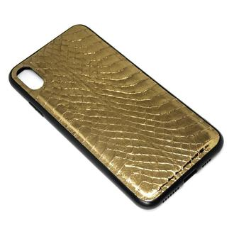 Чехол для iPhone X/Xs из золото медного питона