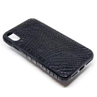 Чехол для iPhone X/Xs, Xs Max 3D вставки из кожи крокодила, питона, игуаны, ската