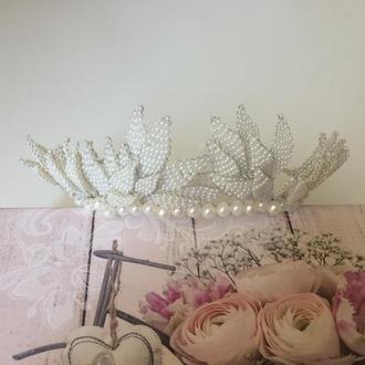 Свадебная тиара, корона для невесты, корона в свадебную прическу