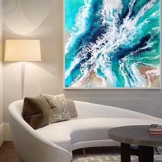 Картина эпоксидной смолой «Океан». Абстракция