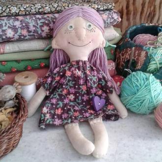 Текстильная куколка Туся