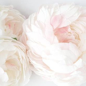 Пионы из бумаги, настенные пионы,цветы из бумаги