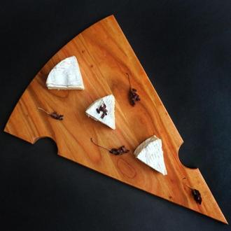 Дошка в формі трикутного сиру тонка Черешня LAS 230x340x10h мм 3403b-SCL