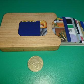 Чехол,  кардхолдер для пластиковых карт деревянный