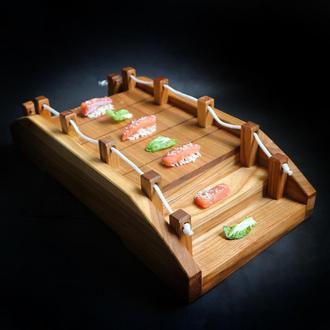 Деревянный Мостик для суши Дуб/Черешня LAS 450 мм х 220 мм х 110h мм 5201c-SCL