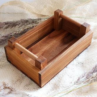 """Хлібничка для сервірування дерев'яна """"Француз"""" Черешня Берест LAS 220мм х 140мм x 80мм 6304b-SCL"""
