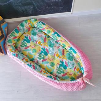 Кокон для ребенка (гнездышко, бебинест) Flamingo and Tucan