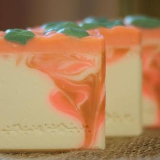 """Мыло натуральное с аминокислотами шелка и маслом авокадо """"Розовые розы"""". Мыло с нуля ручной работы."""