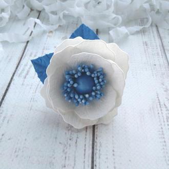 Анемон из фоамиран на резинке, Цветы на резинке, цветы для волос