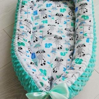 Кокон для ребенка (гнездышко, бебинест) Racoons
