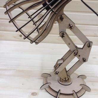 Лампа настільна дерев'яна PIXAR